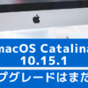 macOS Catalina 10.15.1がリリースされたけどCatalinaはまだ待ち